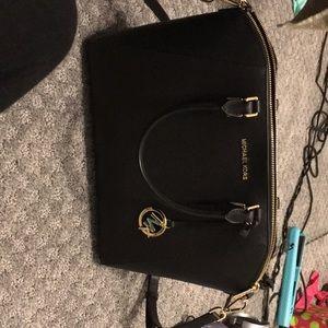 Ciara saffiano black large satchel Brand new